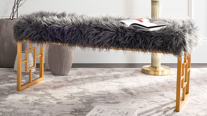 Safavieh Furniture Safavieh's autumn furniture range is a stylish collection of marble-topped end tables, classic drawers, sophisticated stools and metallic accents.
