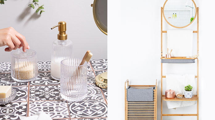 Bathroom Updates Give your bathroom a makeover with our collection of modern homeware from wooden shelves to marble toothbrush holders.