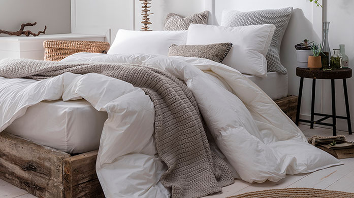 Nimbus Duvets & Pillows Filled with exquisitie Hungarian goose and duck down, Nimbus' ultra soft duvets and pillows offer the ultimate in comfort and luxury.