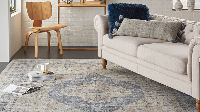 Vintage Chic Rugs: From £54 Classically stylish rugs with a contemporary twist are the perfect addition to your home. All vintage-inspired, from £54.