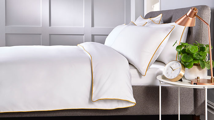 Behrens Bed Linen A beautifully fresh bed linen collection offering everything from hotel suite linens to delicate floral patterns.