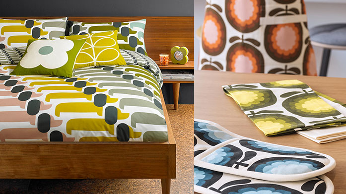 Orla Kiely Home & Gifts  Treat a loved one and adorn your home with Orla Kiely's vintage-inspired, kitsch gifts, tableware and kitchen accessories.