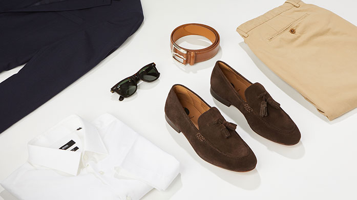 Workwear Wardrobe For Him Cut a smart figure at work with a sleek tailored suit, crisp shirt and sophisticated accessories from Reiss, Jigsaw and Vivienne Westwood.