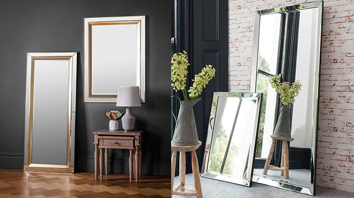 Gallery Mirrors This decorative range from Gallery includes everything from classically ornate to modern artistic shapes, perfect for a feature wall.