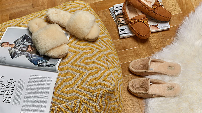 Autumn Slipper Boutique for Her Step into pure luxury with our edit of women's sheepskin slippers, perfect for autumn/winter. Shop mules, slides and UGGs.