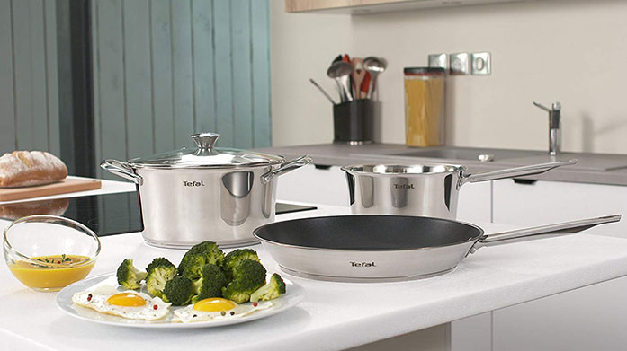 Tefal Cookware Trust in Tefal to deliver the best kitchenware sets containing non-stick frying pans, stainless steel pots and quality saucepans.