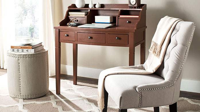 Work From Home Furniture Turn your home office into an interior delight with this chic selection of office furniture from velvet chairs and seating to office desks and storage.