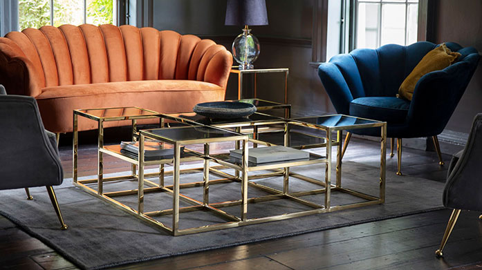 Boho Luxe Furniture by Gallery Get that luxury boho feel in your home with Gallery's stylish range of furniture, featuring coffee tables, console tables, desks and display units.