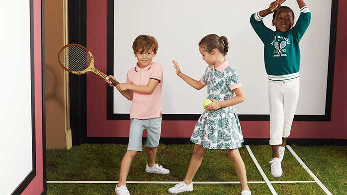 Ready, Set, Wimbledon! Get your little ones ready for the Wimbledon Tennis Championships in children's clothing from Petit Bateau, Superga and Hackett London.