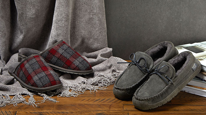 Fenlands Pure Sheepskin Slippers for Him These luxury, genuine sheepskin moccasin and mule slippers are perfect for cosy evenings in front of the fire. Christmas gifting for Dad - sorted!