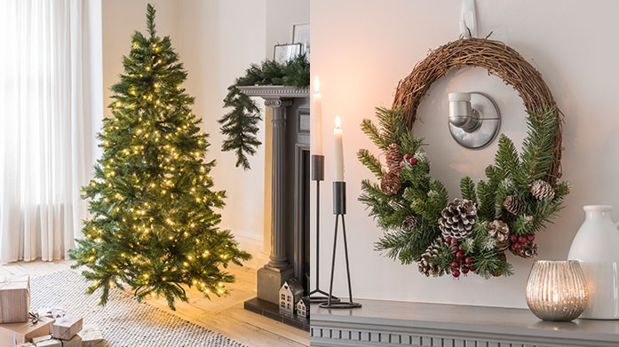 National Tree Company Shop for stunningly realistic artificial Christmas trees, wreaths and fir garlands in this collection of festive decorations.