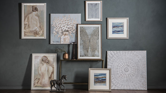 Gallery Wall Art Transform a tired room in your home by creating a gallery wall. Simply mix and match a handful of our iconic framed prints for instant interior chic.