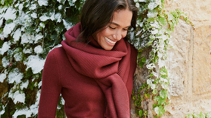 Layer Up for Christmas Women's Baby it's cold outside! Layer up in pure luxury this winter with our edit of women's winter accessories.