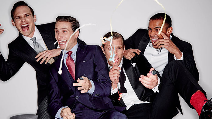 What to Wear to the Christmas Party Men's  Whether you need a formal suit for the Christmas party or a smart-casual ensemble for festive drinks, our menswear edit has you covered.
