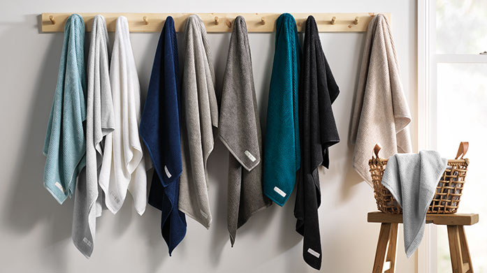Luxury Towels Envelop yourself in pure luxury with plush new towels by Christy and Sheridan. Shop bath sheets and hand towels in soft, neutral hues.