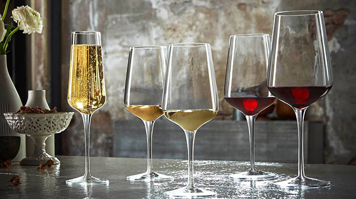 New Year New Glass Invest in new luxury glassware for this year's celebrations and festivities! Shop wine glasses, champagne flutes, decanters and more.