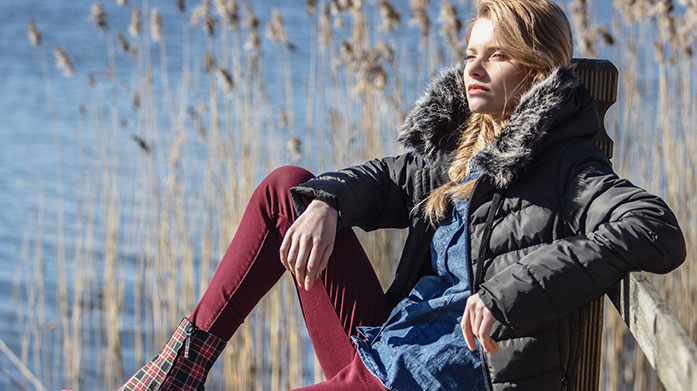 Warm Winter Jackets for Her Feel warm and look fab in a new winter jacket by Boden, Crew Clothing, Dare 2B, O'Neill, Killtec or Spyder.