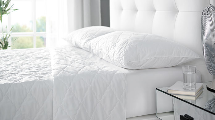 Temperature Regulating Bedding Stay cool and refreshed during warm nights with temperature regulating duvets and sheets from Coolmax and Euroquilt.