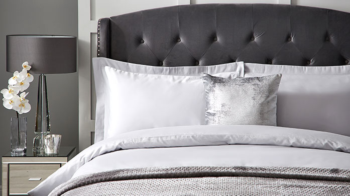 Hotel Living 1000 Thread Count Linens Invest in superior 1000 thread count Hotel Living linens this winter to guarantee the ultimate night's sleep.