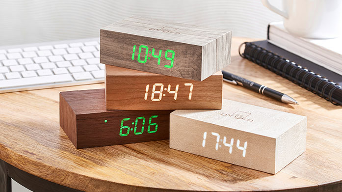 Gingko Clocks Design-led, functional and unique, each fine crafted Gingko clock is refreshingly different, perfectly merging modern and classic style.