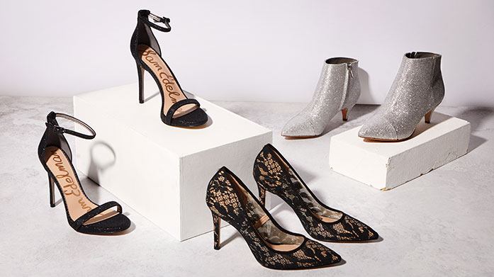 Sam Edelman: New Collection Our new collection of Sam Edelman shoes features metallic pumps, leather court shoes and patent ankle boots to see you through party season.
