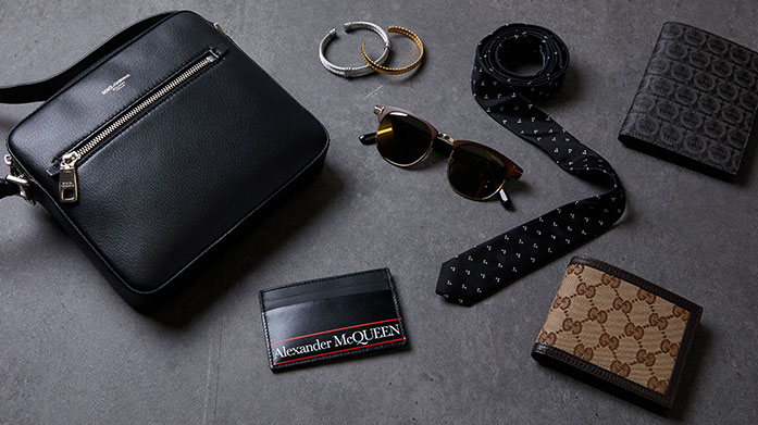 Accessories Guide for Men Your one stop shop to accessorising essentials awaits - shop statement sunglasses, smart watches and luxury bags from the best in designer for him.