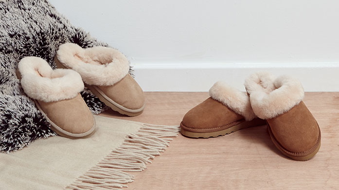 Cold Feet - Banished  There's no time like the present to invest in a cosy pair of slippers or boots. With shearling styles from UGG and Australia Luxe to slippers by Fenland's, there's plenty on offer to covet.