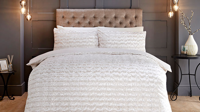 Trending Textures Bedding  Elevate your bedding choices with contemporary textured styles from Sleepdown. Available in all sizes and shades, going to bed just got more stylish.