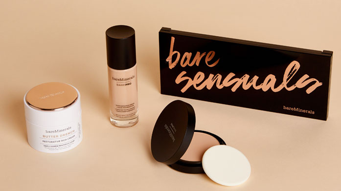 bareMinerals Cosmetics  Look and feel fantastic with the clean formulas of bareMinerals. Featuring award winning barePro foundation, eyeshadow palettes and more.