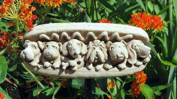 Hazelmill Garden Hazelmill's collection of stone antique effect garden ornaments are quirky, fun and a great talking point for your next alfresco soiree.