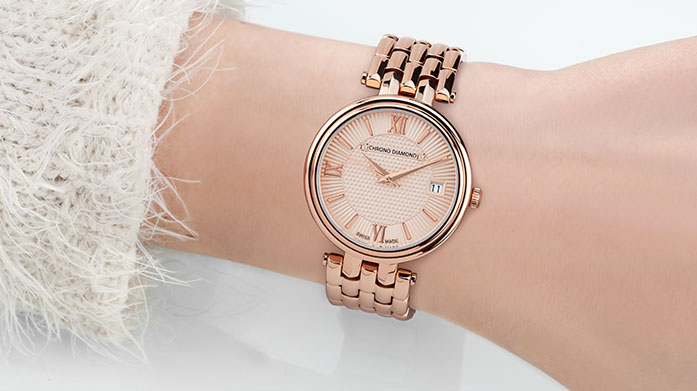 Chrono Diamond Watches for Her Ensure your time is precious with a beautiful, Swiss wrist watch by Chrono Diamond. Show off your new accessory in and out of office.