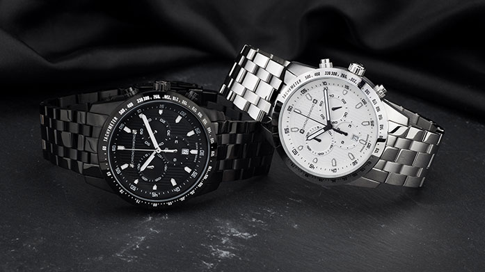 Chrono Diamond Watches for Him Timeless watches by Chrono Diamond, made for the modern man. Show off a beautiful watch at the office, on the golf course or at the races.