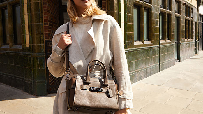 Iconic Bags Iconic bags to love and last for years to come featuring Coach's Edie handbags, the Aspinal Hepburn bag and Radley tote's.