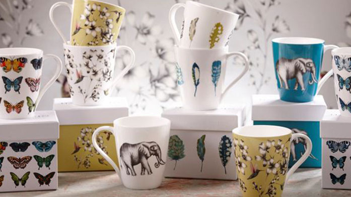 Top Brand Dining Discover classic mugs from Keith Brymer Jones, beautifully modern crockery from Sophie Conran and sleek tableware from Habitat.