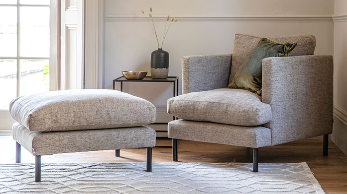 Gallery New Season Furniture Gallery's new season furniture has landed! Browse luxe swivel armchairs, sofas and footstools all made to order.