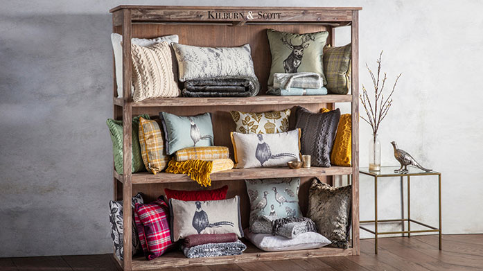 Kilburn & Scott Choose Kilburn & Scott for country home inspired softs,comfy cushions and more.