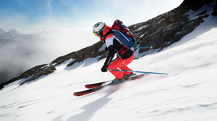 Skiwear Clearance for Her Take to the slopes in a performance-enhancing men's ski jacket, pair of trousers, base layer and ski accessory.