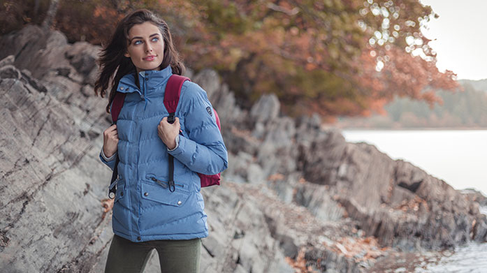 Live Life Outdoors for Her Live life outdoors wearing stylish men's sweaters, waterproof jackets, winter coats, padded gilets and casual tees.