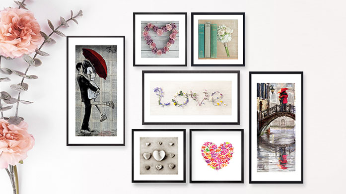 Valentine's Framed Art Bring a touch of romance to your interiors or gift your loved one a special present from our Valentine's Day-inspired framed art.