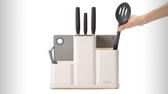 Buyer's Pick: Joseph Joseph Counterstore Organise your kitchen with Joseph Joseph. This compact counter store ensures you have everything to hand for preparing a delicious meal.