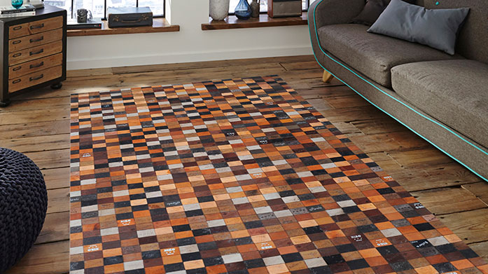 Wild Luxury Leather Rugs This season we're obsessed with these wild rugs by Luxury Leather. Choose from a range of contemporary designs and prints.