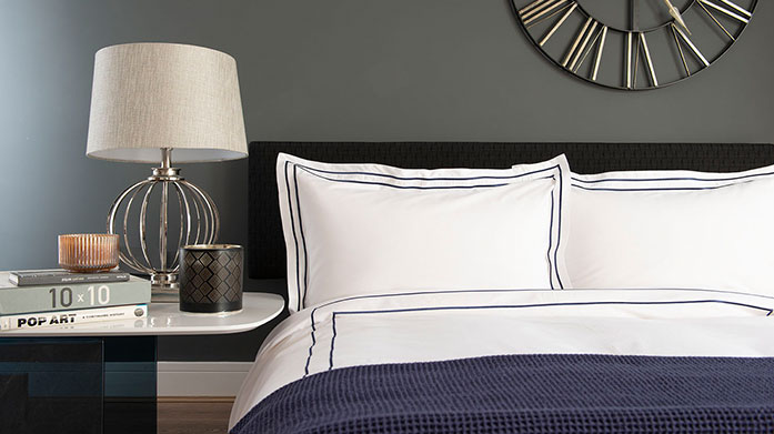 The Lyndon Company Bed Linen The Lyndon Company create sophisticated, classic bedding with a contemporary twist, from soft-toned duvet sets to white fitted sheets.