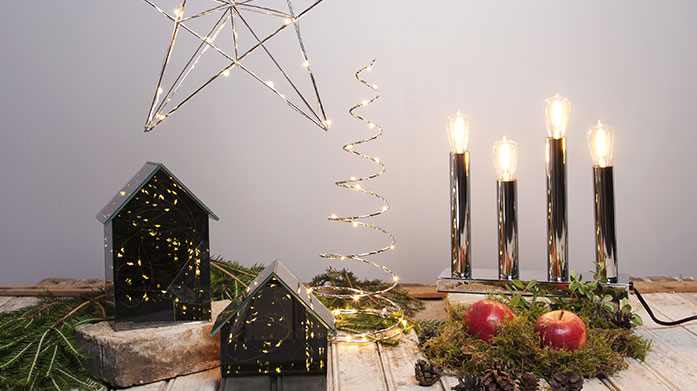 Christmas Magic Add a dash of magic to your home this Christmas with our charming collection of festive lights, decorations, Christmas trees and wreaths.