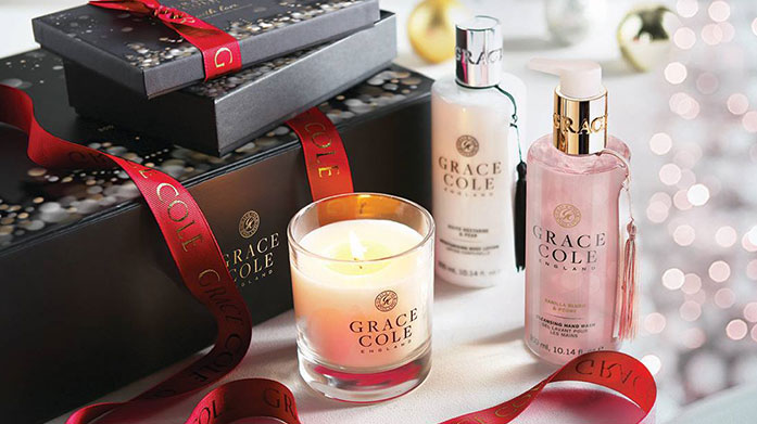 Grace Cole Luxurious Bath & Body Gift Sets Grace & Cole's luxury beauty gift sets make the perfect Christmas or birthday gift! Shop bath sets, home fragrances and more.