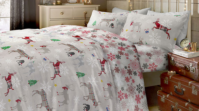 Christmas Bedding Clearance Quick! Our Christmas bedding clearance sale features a range of festive linens to brighten up the bedroom. While stock lasts...