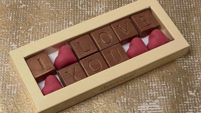 Choc on Choc Valentines Indulge the sweet tooth of your favourite person this Valentine's Day with these romantic chocolates from Choc on Choc.