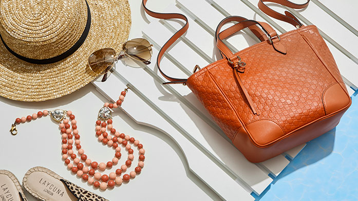 Get Holiday Ready Get holiday ready with new designer accessories to complete your summer looks. Shop Mitzuko, Giorgio Costa, Tom Ford and Ray-Ban.