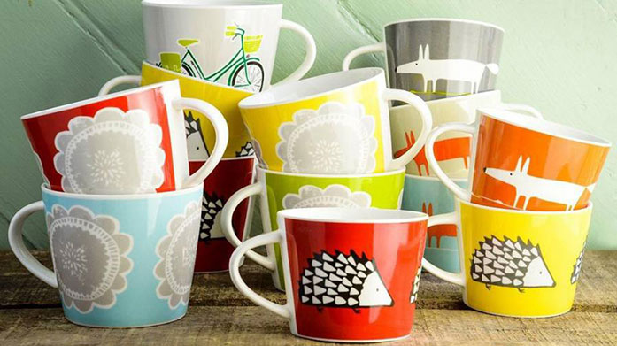 Designer Mugs Take a break with our edit of designer mugs from Scion, Bert & Buoy, Jane Foster and more.