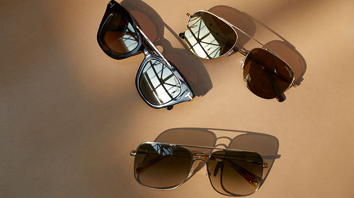 New In: Tom Ford Sunglasses for Him Keep your cool in a pair of our most stylishly suave shades from the king of high fashion accessories - Tom Ford.
