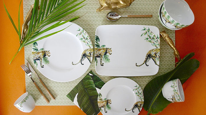 Catchii Dining Inspired by the exotic wildlife of South America, this range of plates, bowls and mugs will be a vibrant addition to your table this summer.
